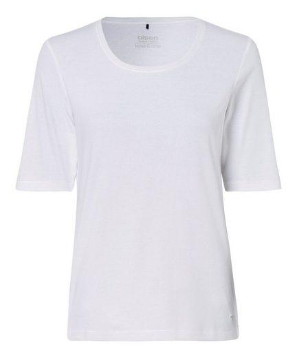 Olsen Rundhalsshirt unifarben, Basicform