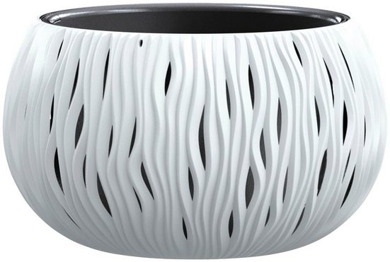 PROSPERPLAST Blumenkübel »Sandy Bowl«, weiss, ØxH: 37x21 cm