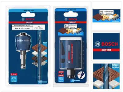 Bosch Professional Lochsäge »Bosch EXPERT Construction Material Lochsägen Starter Set 51 x 60 mm (2608900463) Universal + Power Change Adapter (2608900526)«