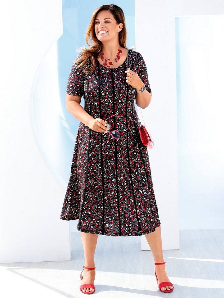 m. collection -  Kleid mit romantischem Blumen-Druckmuster rundum