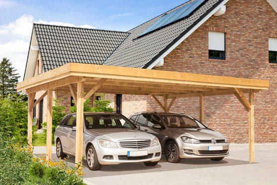 Kiehn-Holz Doppelcarport »KH 102«, BxT: 604x510 cm, mit Alu-Dach