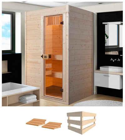 weka Sauna »Valida 1«, BxTxH: 139 x 139 x 203,5 cm, 38 mm, ohne Ofen