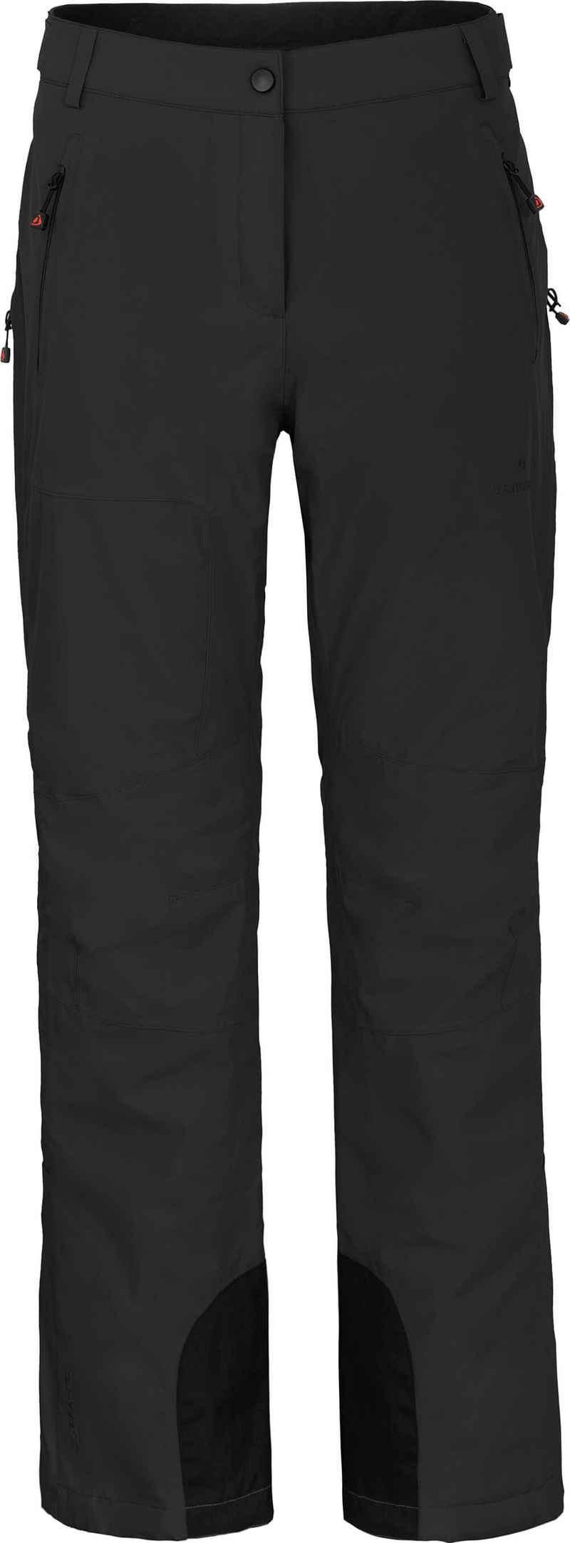 Bergson Skihose »ICE light« Damen Skihose, unwattiert, 20000 mm Wassersäule, Kurzgrößen, schwarz