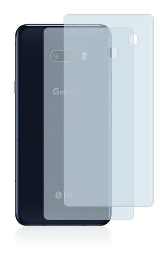 BROTECT Schutzfolie »für LG G8X ThinQ (Rückseite)«, (2 Stück), Folie Schutzfolie klar