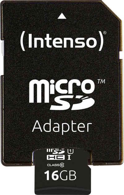 Intenso »microSDHC UHS-I Premium + SD-Adapter« Speicherkarte (16 GB, 45 MB/s Lesegeschwindigkeit)