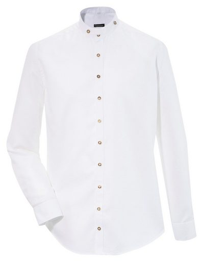 OS-Trachten Trachtenhemd Herren, mit kurzem Stehkragen