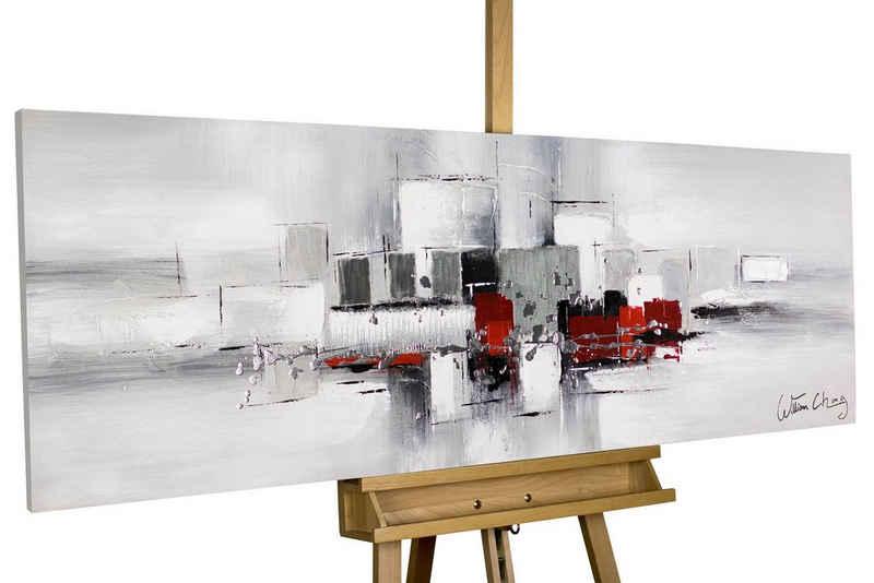 KUNSTLOFT Gemälde »Umringt von Nebel«, handgemaltes Bild auf Leinwand