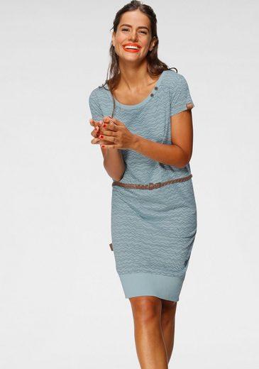 Alife & Kickin Jerseykleid »CocoAK« (2-tlg., mit abnehmbarem Gürtel) bedrucktes Sommerkleid mit kleinem Knopfdetail