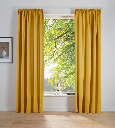 Vorhang »Raja«, my home, Kräuselband (2 Stück), blickdicht