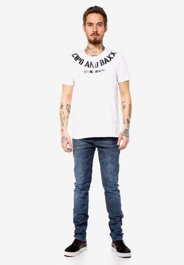 Cipo & Baxx T-Shirt mit dezentem Frontprint