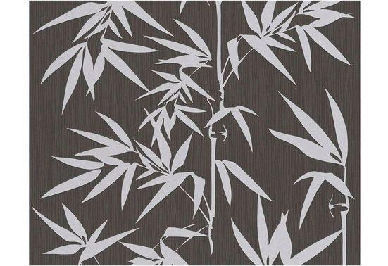 JETTE Vliestapete »Tapete Bambus«, strukturiert, abstrakt, floral, gemustert, tropisch, (1 St), strukturiert