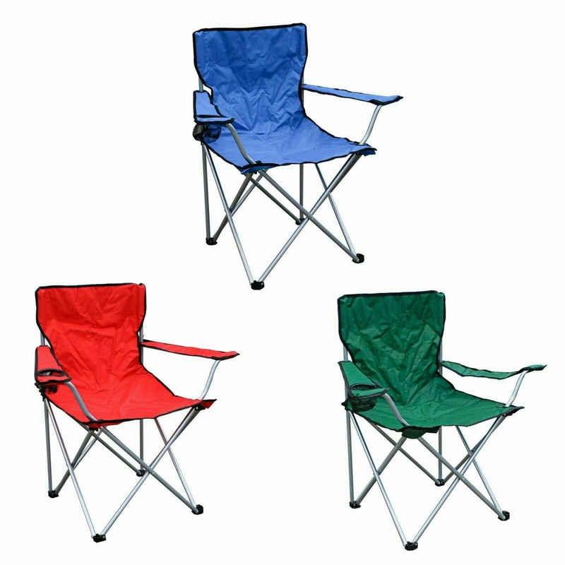 malino24 Campingstuhl »Flatbar Campingstuhl Outdoor Klappstuhl Angler Regie Stuhl Getränkehalter Sessel Faltstuhl Angelstuhl Strandstuhl Gartenstuhl Falt«, Gestell aus Stahl, Stabil