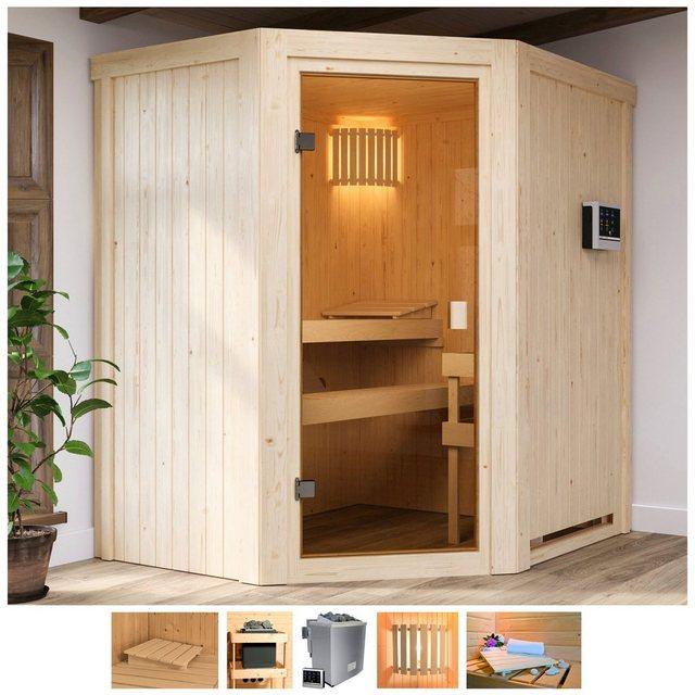 Saunen und Zubehör - Karibu Sauna »Fedder«, BxTxH 170 x 151 x 198 cm, 68 mm, 4,5 kW Bio Ofen mit ext. Steuerung  - Onlineshop OTTO