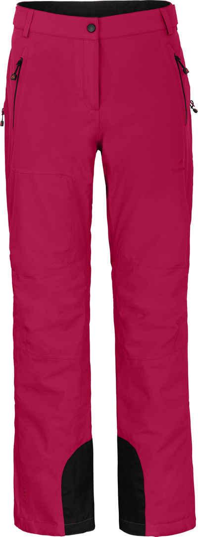 Bergson Skihose »ICE light« unwattierte Damen Skihose mit 20.000er Wassersäule, Langgrößen, Cherry rot