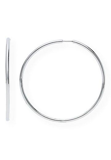 JuwelmaLux Paar Creolen »Creolen Silber Ohrringe Creolen 48 mm« (2-tlg), Damen Creolen Silber 925/000, inkl. Schmuckschachtel