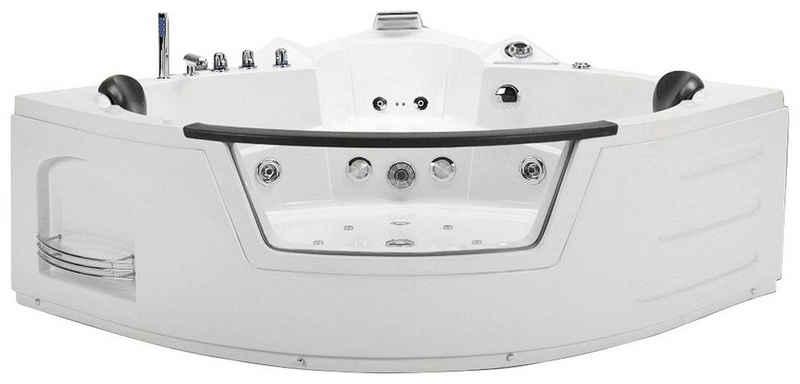 HOME DELUXE Whirlpool-Badewanne »White L Kompakt«, (Komplett-Set), doppelwandig