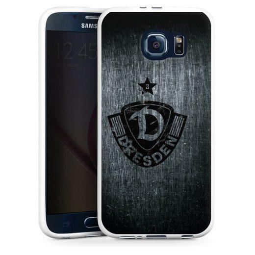 DeinDesign Handyhülle »Dynamo Scratch Black« Samsung Galaxy S6, Hülle SG Dynamo Dresden Offizielles Lizenzprodukt Vintage