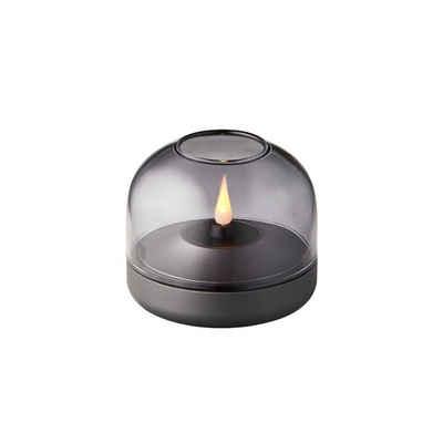 kooduu LED Tischleuchte »Tischleuchte Glow 8 in Grau mit LED Kerze«, Tischleuchte, Nachttischlampe, Tischlampe