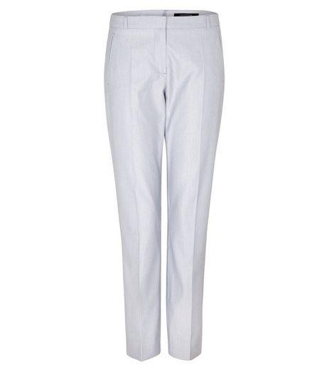 Comma Stretch-Hose »COMMA Business-Hose helle Damen Stoff-Hose im meliertem Design Trend-Hose Blau«