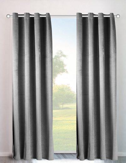 Vorhang »Velvet uni«, my home, Ösen (2 Stück), Samt