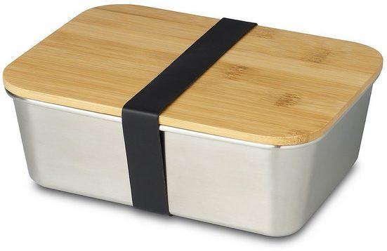 ECHTWERK Lunchbox, Edelstahl, (1-tlg), mit Bambusdeckel