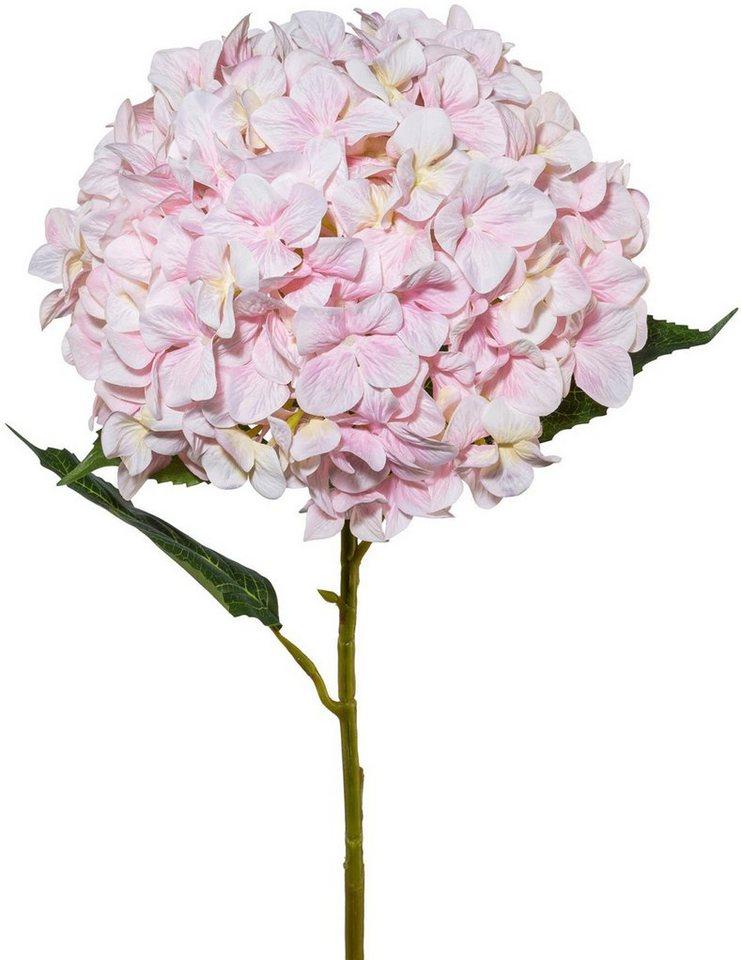 Dekozweig Hortensie Kunststoff rosa Länge 74 cm Kunstblume