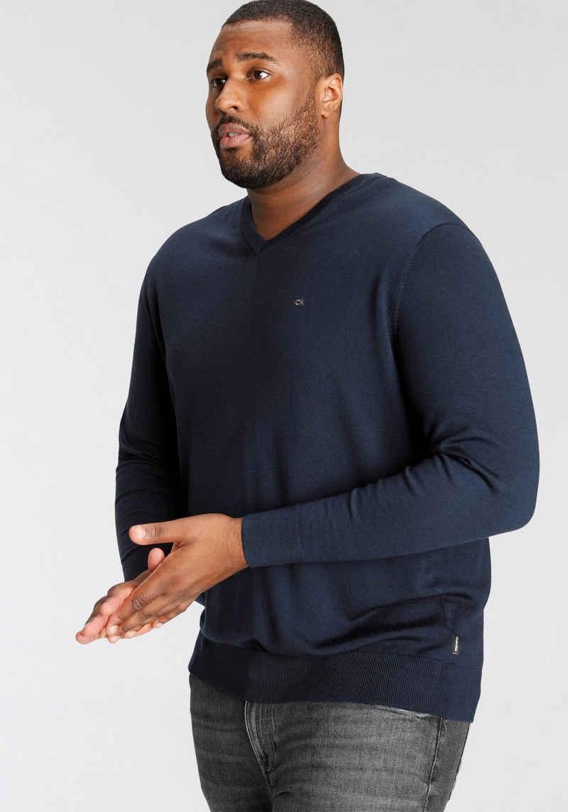 Calvin Klein Big&Tall V-Ausschnitt-Pullover »BT-SUPERIOR WOOL V NECK SWEATER«