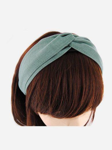 axy Haarreif »Breiter Haarreif Wunderschön«, Design Haarreif aus zweilagig Chambray Stoff