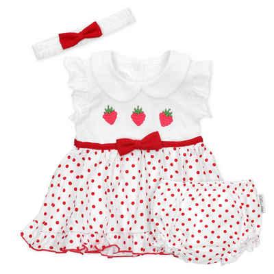 Baby Sweets Kleid, Hose & Kopftuch »3tlg Set Kleid + Shorts + Mütze« (3-tlg)