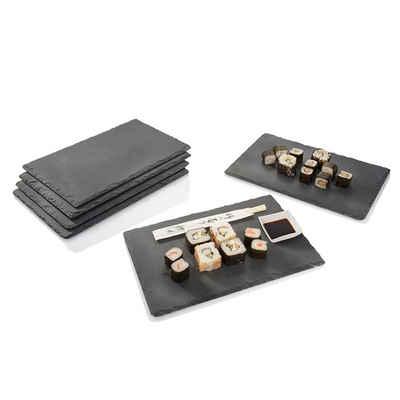 Platzset, »Schieferplatten«, SÄNGER, (6-St), Rustikales Design,Bruchkante