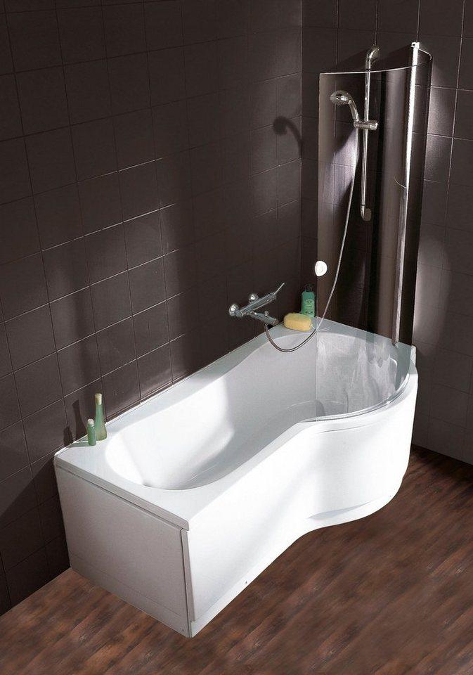 Schulte Badewanne Wanne Dusch Kombination Set 2 Tlg Breite 170cm Raumsparwanne Aufsatz Aus Sicherheitsglas Online Kaufen Otto