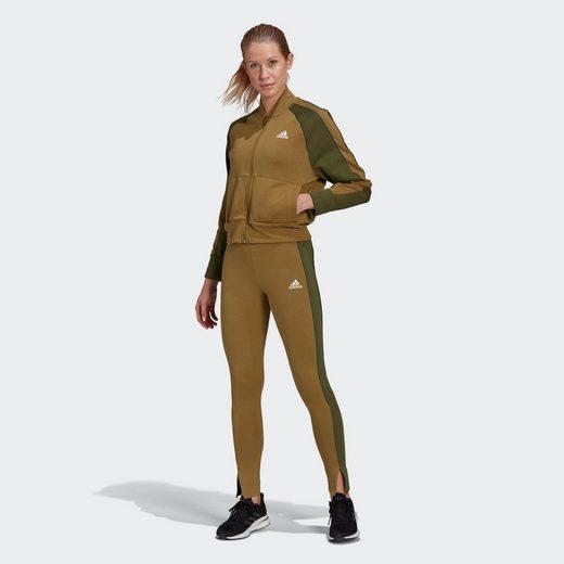 adidas Performance Trainingsanzug »Bomber Jacket and Tights Trainingsanzug«