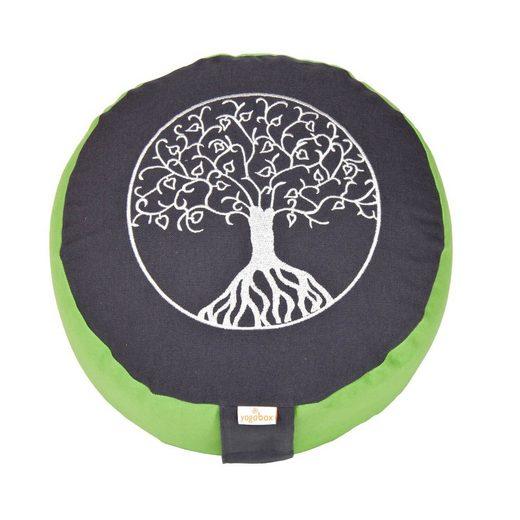 yogabox Yogakissen »Glückssitz Lebensbaum«