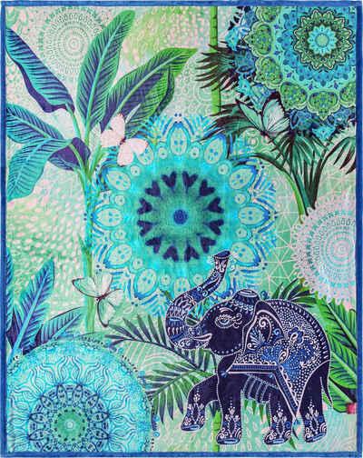 Plaid »Isara«, hip, mit Mandalas und Elefant