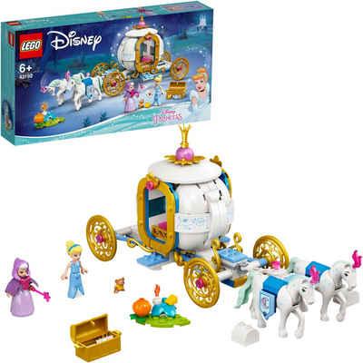 LEGO® Konstruktionsspielsteine »Cinderellas königliche Kutsche (43192), LEGO® Disney Princess™«, (237 St), Made in Europe