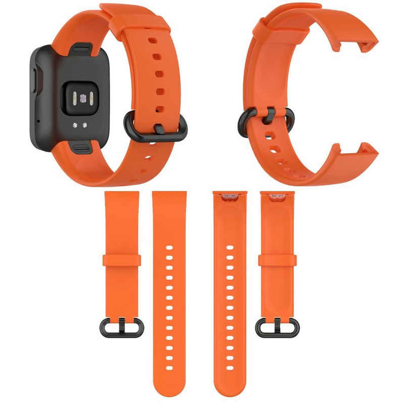 Wigento Für Xiaomi Mi Watch Lite / Redmi Watch Kunststoff / Silikon Armband Orange Uhr Neu Fitnessband