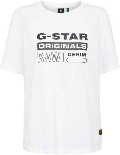 G-Star RAW T-Shirt »Originals label regular« mit Frontdruck