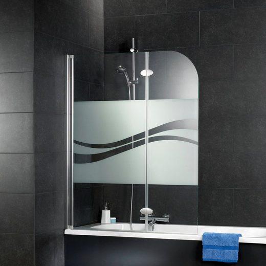 Schulte Badewannenfaltwand »Komfort«, Einscheibensicherheitsglas, (2 tlg), milchglas