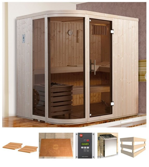 Saunen und Zubehör - weka Sauna »Sara 1«, BxTxH 194 x 194 x 199 cm, 68 mm, 7,5 kW Ofen mit ext. Steuerung  - Onlineshop OTTO