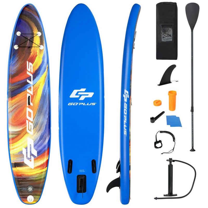 COSTWAY SUP-Board »Stand Up Paddling Board, Paddelboard«, mit Sicherheitsleine, Paddel, Pumpe, Center Finne, Rucksack und Reparaturset