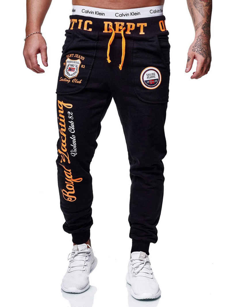 OneRedox Jogginghose »JG-601C« (Sporthose Trainingshose Sweatpants, 1-tlg., im modischem Design) Fitness Freizeit Casual