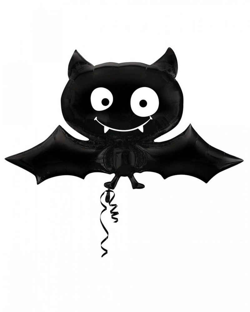 Amscan Folienballon »Schwarzer Halloween Ballon Vampir Fledermaus«