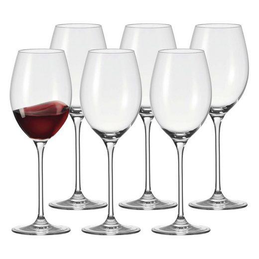 LEONARDO Rotweinglas »CHEERS Bordeauxglas Rotweinkelch 160 ml 6er Set«, Glas