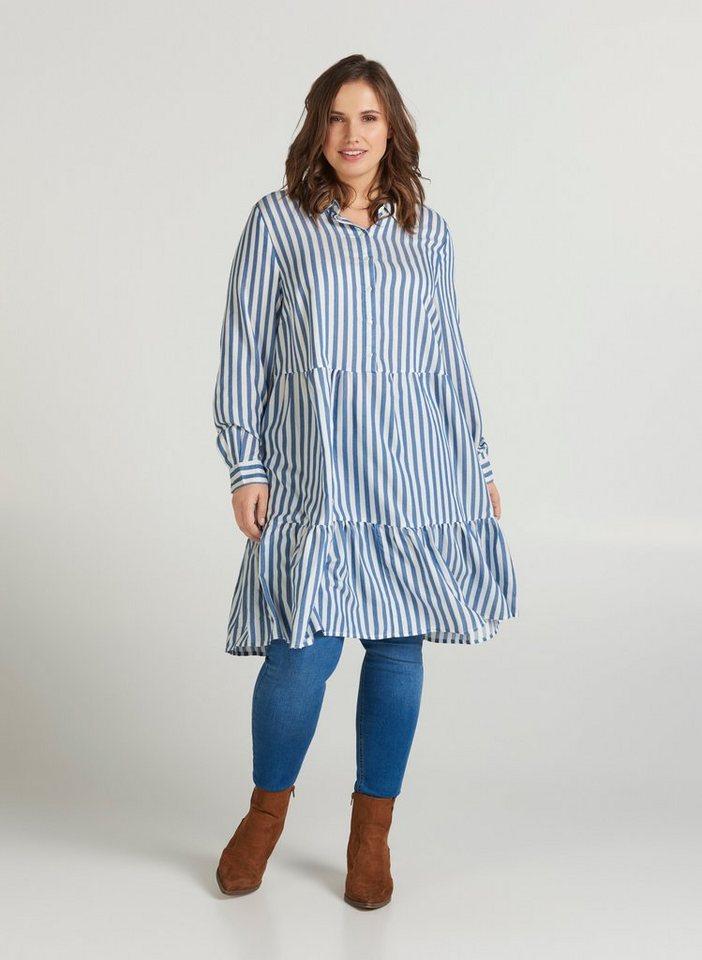 Zizzi Tunikakleid Große Größen Damen Kleid mit langen ...