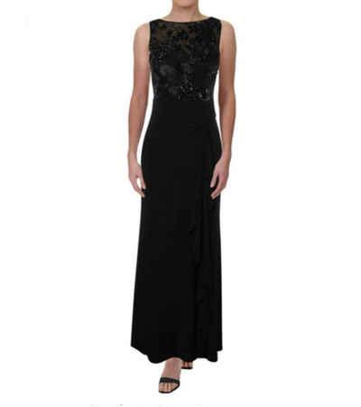 Lauren Ralph Lauren Abendkleid »LAUREN RALPH LAUREN Abend-Kleid elegantes Damen Maxi-Kleid mit Pailletten-Besatz Cocktail-Kleid Schwarz«