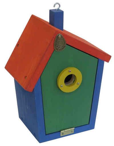 PETGARD Nistkasten »Nistkasten Vogelhaus Meisenkasten Nisthöhle«, Nisthilfe JOYA aus Lärchenholz Rot-Blau-Grün