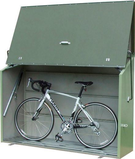 TRIMETALS Fahrrad-/Mülltonnenunterstand »Sesame«, für 2x240 l, Stahl, BxTxH: 185x76x139 cm