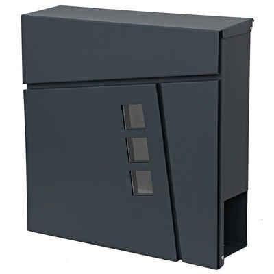 MCW Briefkasten »MCW-B29«, Front mit 3 Sichtfenstern, Zylinderschloss, Mit praktischem Zeitungsfach, Inkl. 2 Schlüsseln