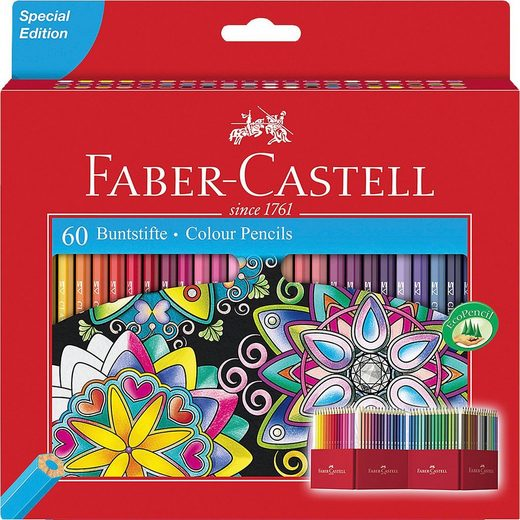 Faber-Castell Dekorierstift »Buntstifte Castle, 60 Farben«