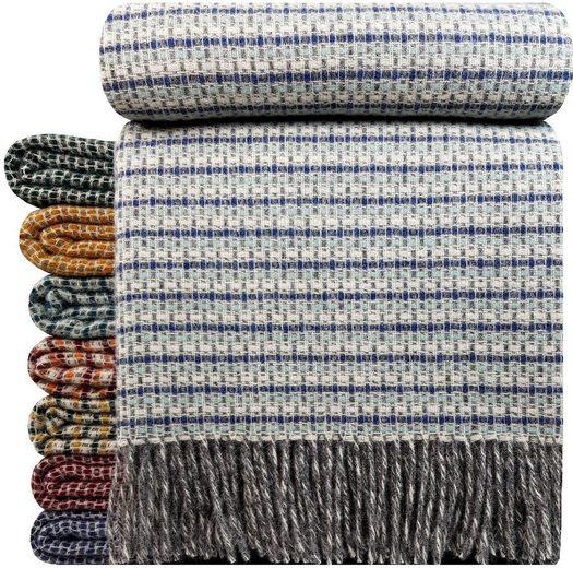 """Wolldecke »Wohndecke Wolldecke Plaid """"TIROL-R"""" aus 100% Schurwolle 140 x 200 cm in vielen Farben erhältlich«, STTS"""